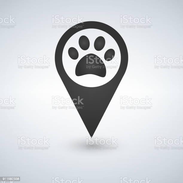 Map pointer paw print icon vector id911582338?b=1&k=6&m=911582338&s=612x612&h=vqbx51qkno ccgjcmklpvhuxjjec34fea5cn3yxngq4=