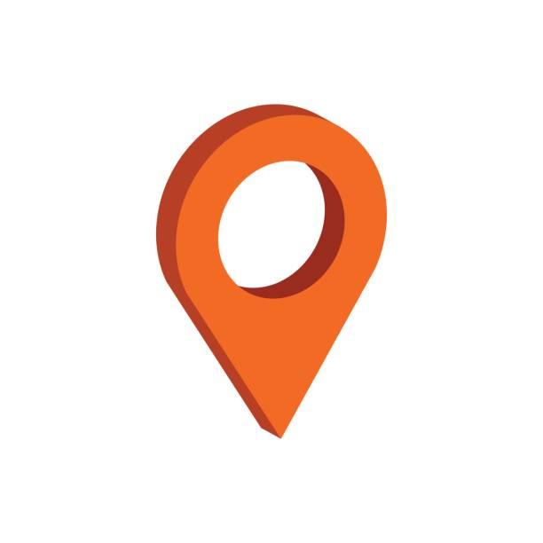 illustrations, cliparts, dessins animés et icônes de symbole de carte de pointeur. plat d'icône isométrique ou d'icône. pictogramme de style 3d pour le web design, l'interface utilisateur, application mobile, infographie. - repères de cartes