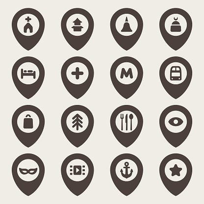 Map pointers icons