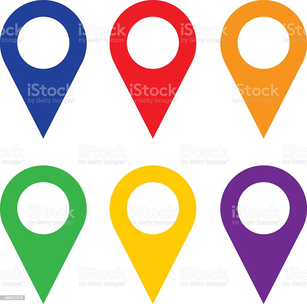 Map Pointers vector art illustration