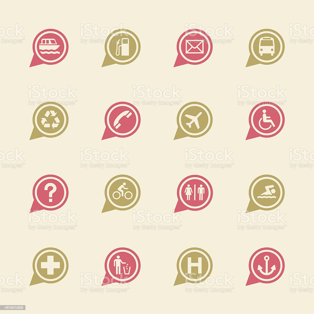 Map Sign Icons Set 1 - Color Series | EPS10 royalty-free map sign icons set 1 color series eps10 stock vector art & more images of airplane