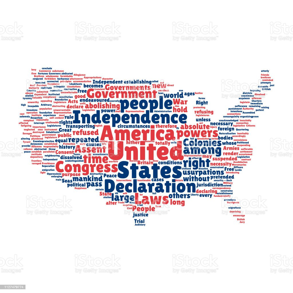 Declaration Of Independence Map on