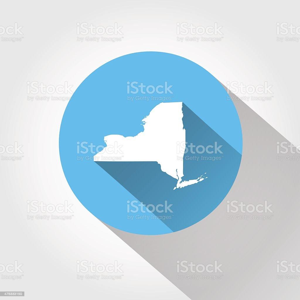 Map state of New York vector art illustration