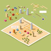 "build your own isometric ""We have moved"" or ""We are here"" map"