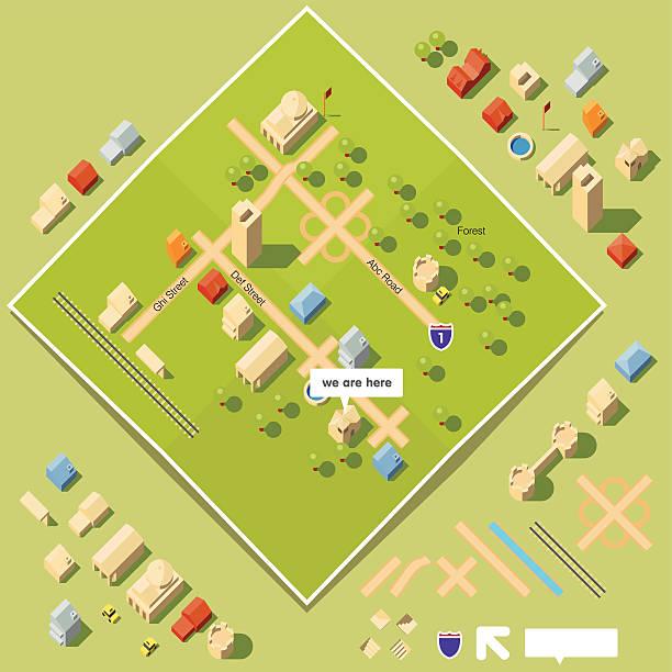 ilustrações, clipart, desenhos animados e ícones de kit de ferramentas do mapa - infográficos de site
