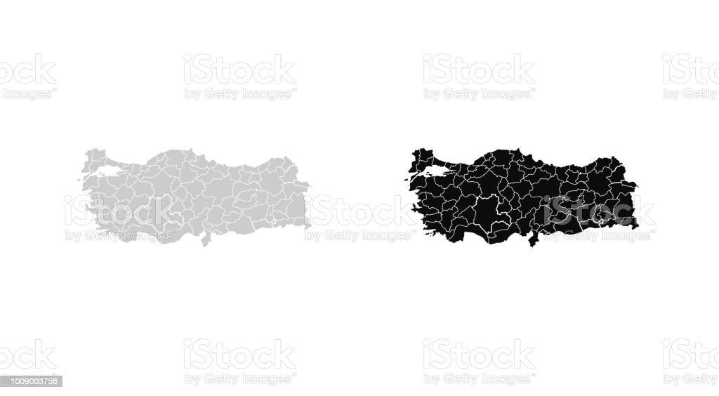 Map Turkey Stock Vector Art & More Images of Abstract 1009003756 ...