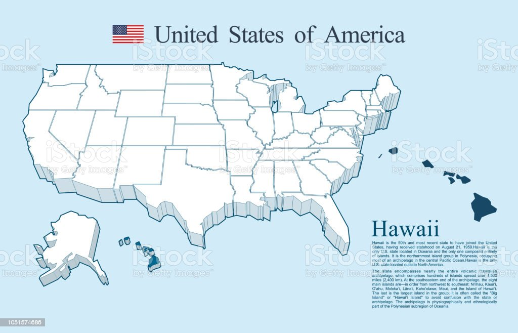 Usa Map Vector Hawaii Stock Vector Art & More Images of Abstract ...