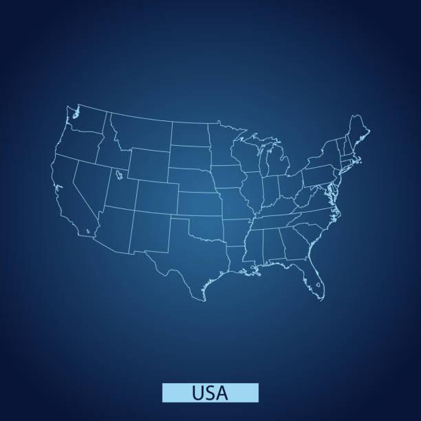USA map – artystyczna grafika wektorowa