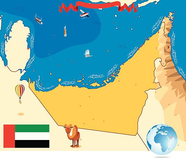 Cartoon Map Of Dubai Illustrations, Royalty-Free Vector ...