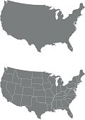 vector map of the USA.