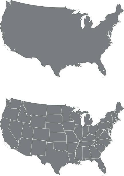 Mapa USA – artystyczna grafika wektorowa