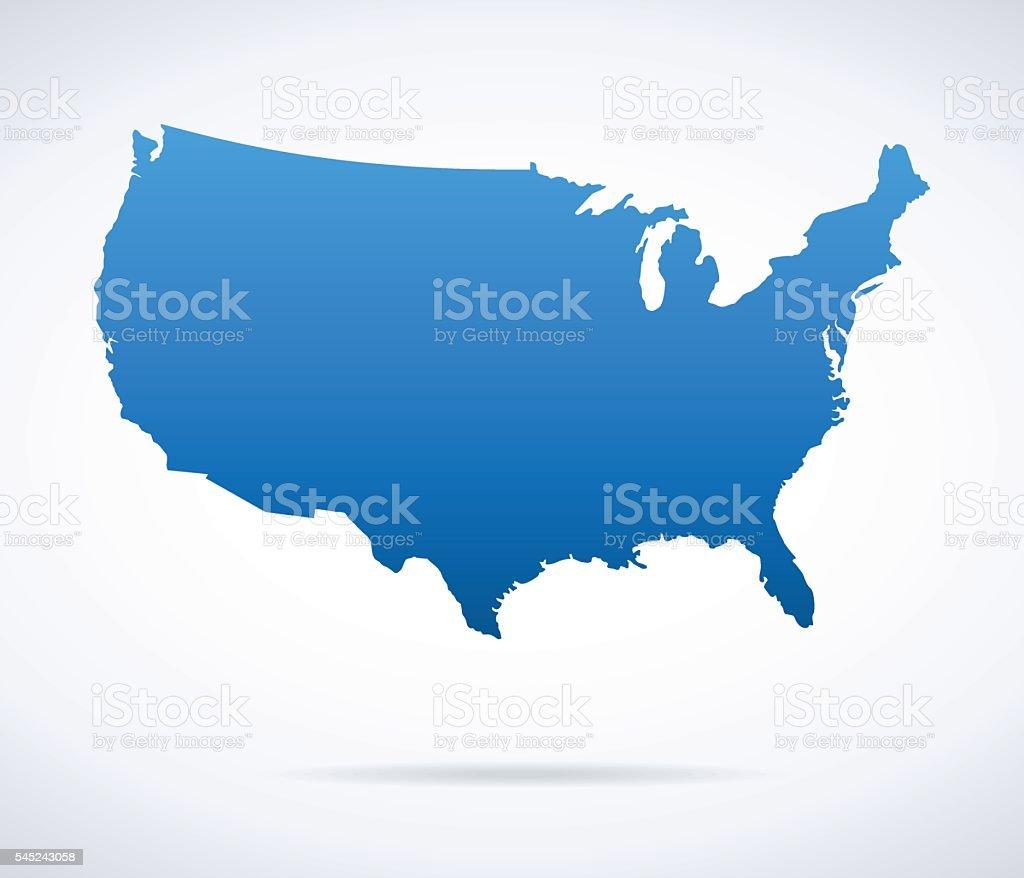USA Map vector art illustration