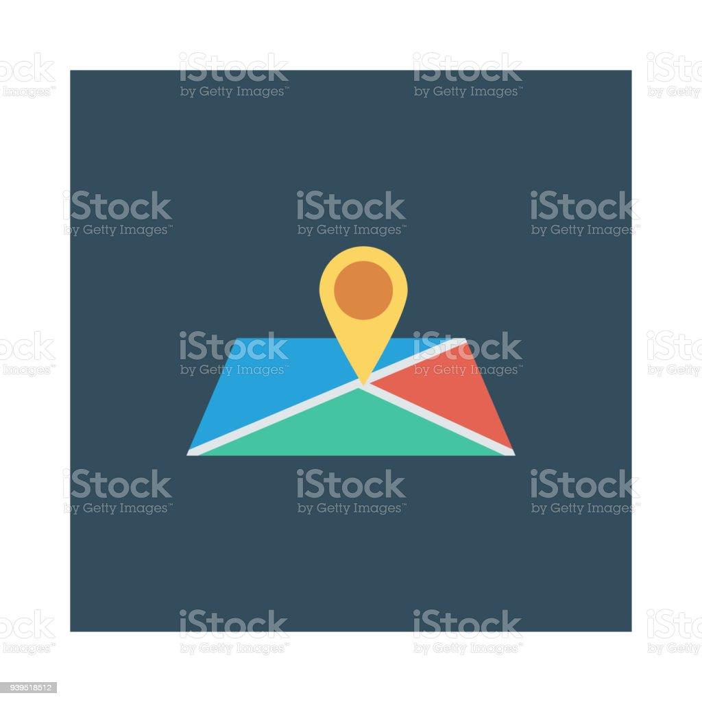 map vector art illustration
