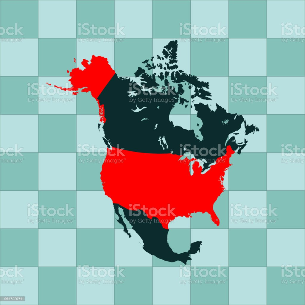 USA map royalty-free usa map stock vector art & more images of cartography