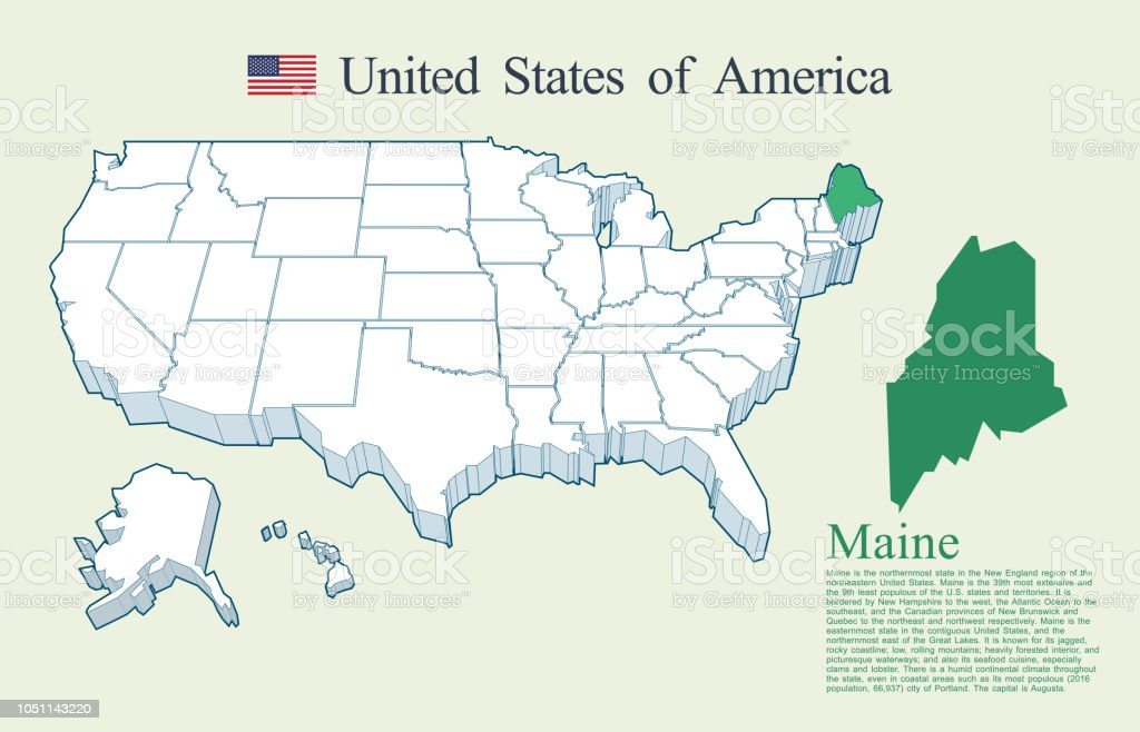 Maine In Usa Map on