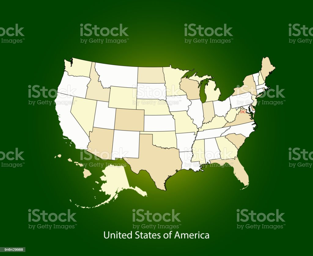 Usa Map Vector Outline Cartography Illustration Map Of United States ...