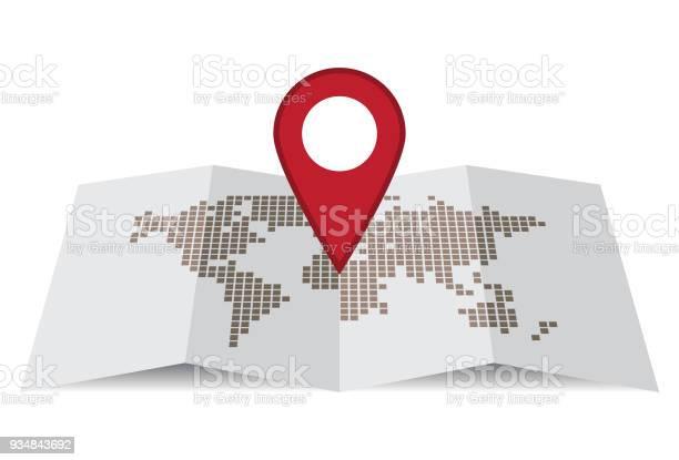 핀 맵 3차원 형태에 대한 스톡 벡터 아트 및 기타 이미지