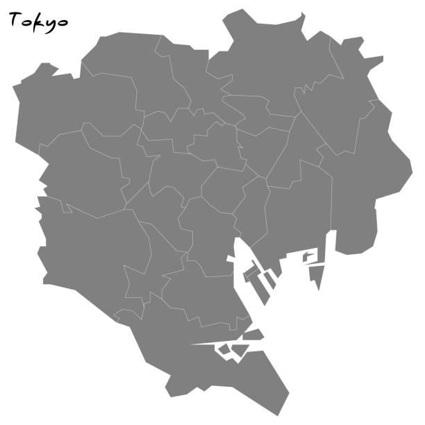 領域の境界にマップされます。 - 東京点のイラスト素材/クリップアート素材/マンガ素材/アイコン素材