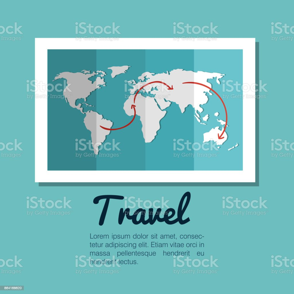 map world globe travel design royalty-free map world globe travel design stock vector art & more images of abstract