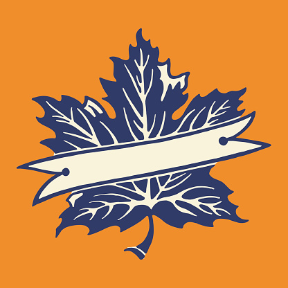 Maple Leaf and Banner