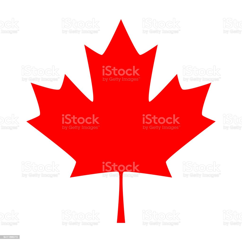 Maple leaf. Canada symbol maple leaf vector art illustration