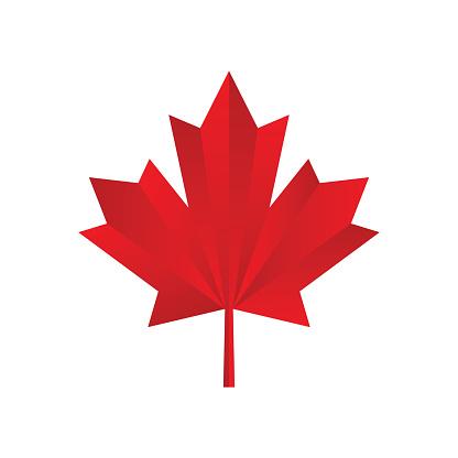 Maple leaf icon. Canadian symbol. Vector illustration. stock illustration