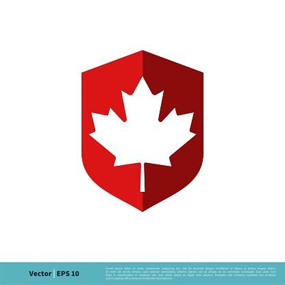 Maple Leaf Icon Vector Logo Template Illustration Design. Vector EPS 10.
