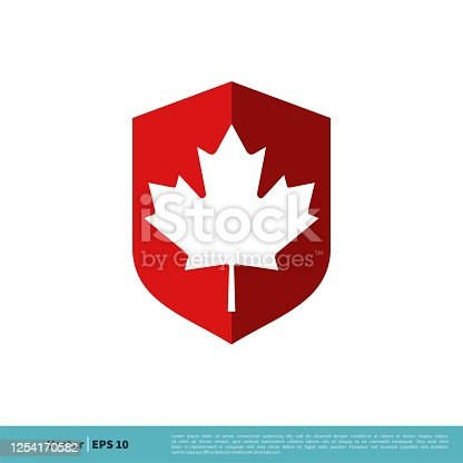 istock Maple Leaf Icon Vector Logo Template Illustration Design. Vector EPS 10. 1254170582