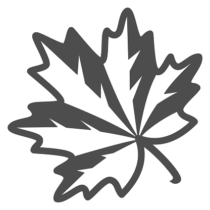 Maple leaf line icon, Oktoberfest concept, autumn symbol sign on white background, maple leaf icon in outline style for mobile concept and web design. Vector graphics.