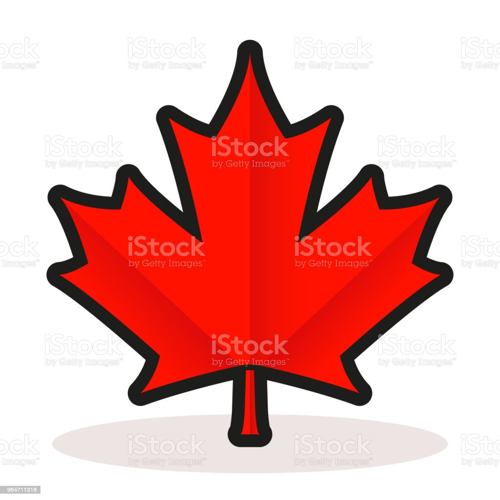 maple leaf on white background royalty-free maple leaf on white background stock vector art & more images of canada