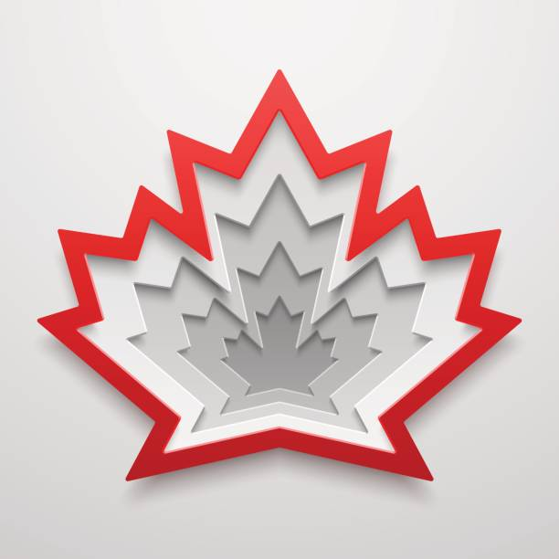 Maple leaf Paper art shape. Canadian symbol vector illustration. Concept design. Maple leaf Paper art shape. Canadian symbol vector illustration. Concept design for cards, posters, flyers, stickers. maple leaf stock illustrations