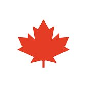 Maple leaf vector icon. Symbol of Canada