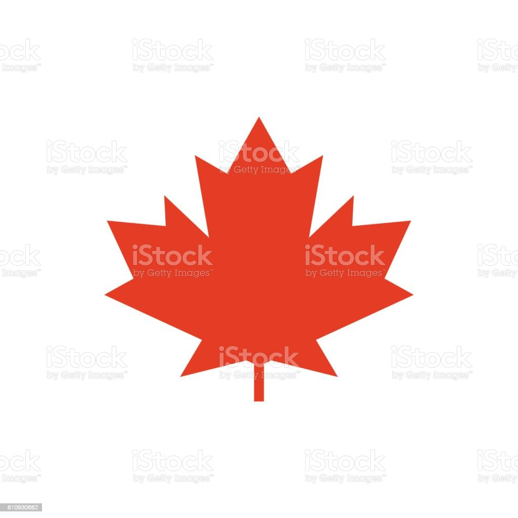 Maple leaf vector icon. Symbol of Canada vector art illustration