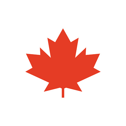 Maple Leaf Vector Icon Symbol Of Canada Stock Illustration - Download Image Now