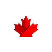 maple leaf vector illustration, maple leaf symbol icon logo