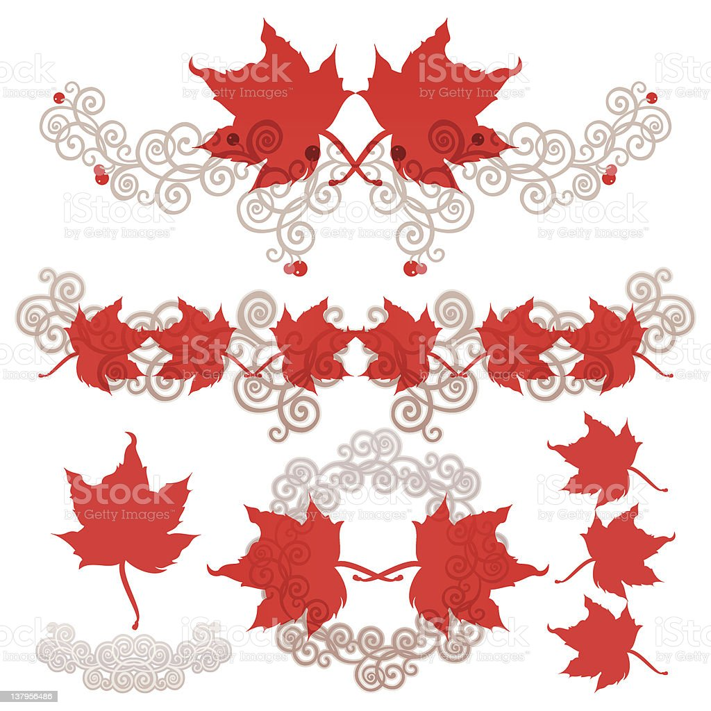 Maple Leave (Design Elements) royalty-free stock vector art
