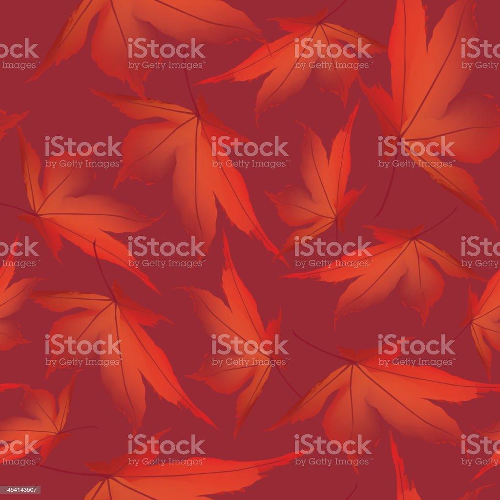 maple leaves seamless pattern. autumn background vector art illustration