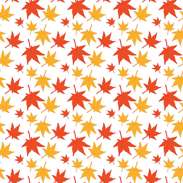 Ahorn Blätter Nahtlose Muster. – Vektorgrafik