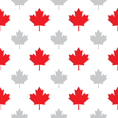 Maple Leaves Seamless Pattern Stock Illustration - Download Image Now