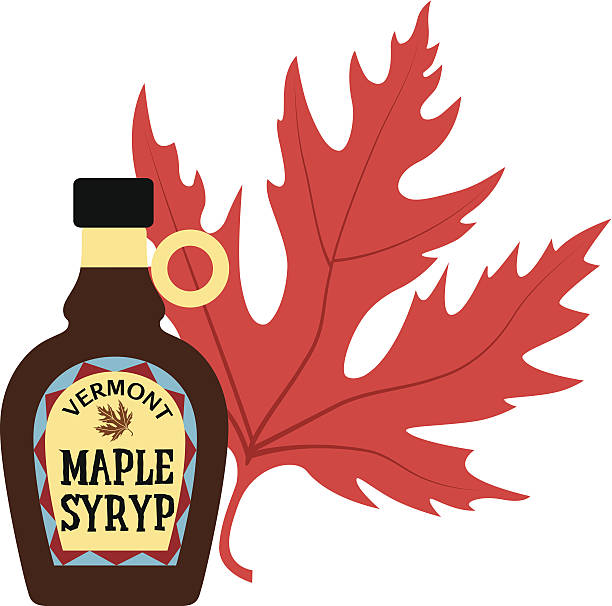 maple syrup color A vector illustration of a bottle of maple syrup in color. maple syrup stock illustrations