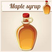 Maple syrup. Detailed Vector Icon. Series of food and drink and ingredients for cooking.
