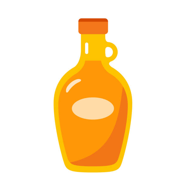 maple syrup Flat Design maple syrup Icon maple syrup stock illustrations
