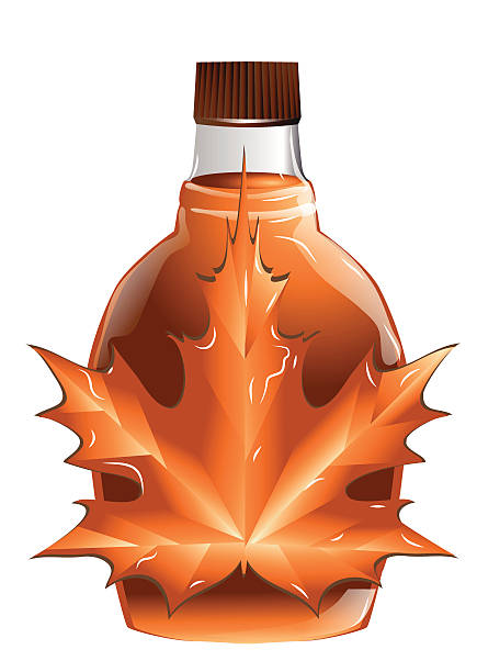 maple syrup maple syrup isolated on a white background maple syrup stock illustrations