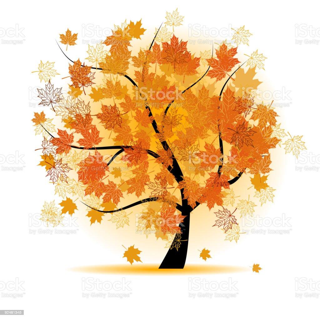 Maple tree, autumn leaf fall royalty-free maple tree autumn leaf fall stock vector art & more images of art