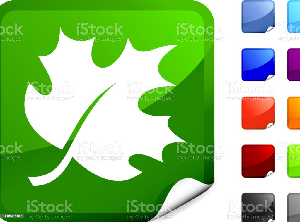 maple tree leaf royalty free vector art on a Sticker royalty-free stock vector art