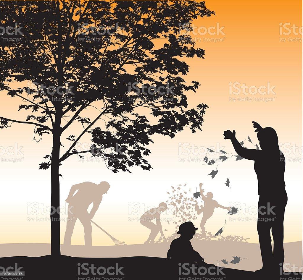 MapleLeaves vector art illustration
