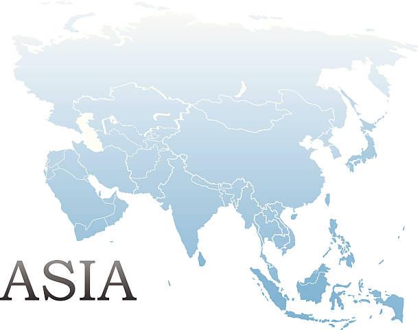 mapofasia_v2 - アジア地図点のイラスト素材/クリップアート素材/マンガ素材/アイコン素材