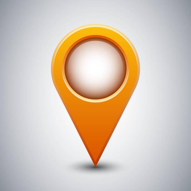 Kartierung point-Symbol oder Zeichen Platz Zeichen mit Schatten – Vektorgrafik