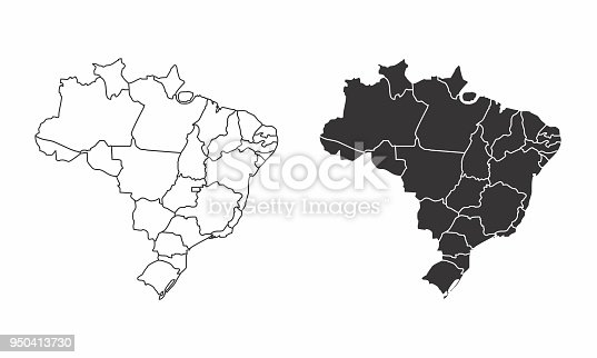 istock Maps of Brazil 950413730