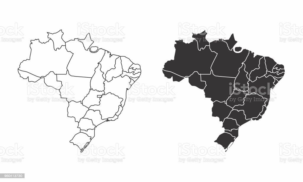 Mapas do Brasil - ilustração de arte em vetor